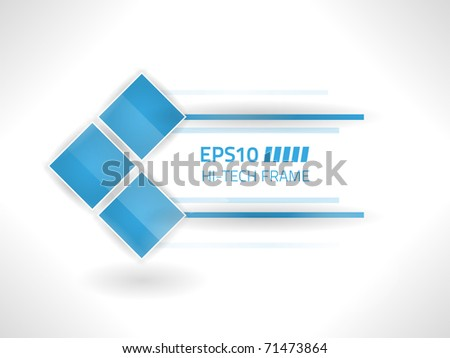 Vector hi tech frame against white background stock vector