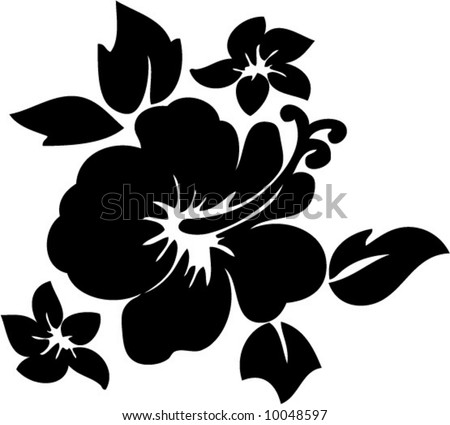 stock vector vector hibiscus flower illustration
