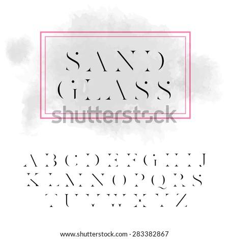 vector high contrast font