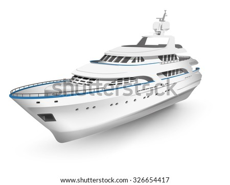 vector high detailed yacht