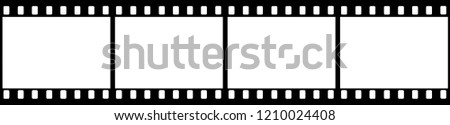 Vector high quality illustration of a black film strip isolated on white background