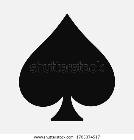 Vector high quality illustration of the french playing cards suit of Spade black symbol isolated on white background - Suits of Spades graphic representation Сток-фото ©