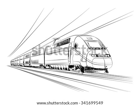 vector high speed train in