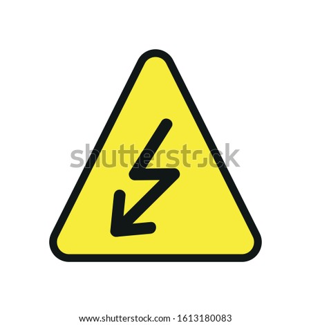 Vector high voltage sign. Warning Sign, Caution Sign
