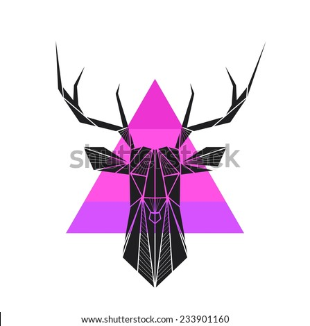 vector hipster abstract