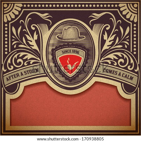 Vector. Hipster retro card. Organized by layers