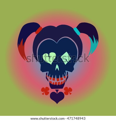 vector hipster skull