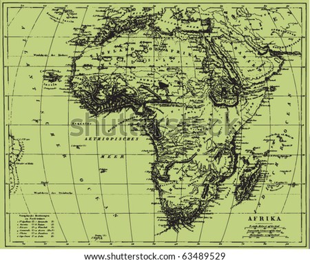 vector historical map of africa ...