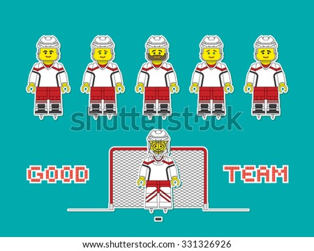 vector hockey team in