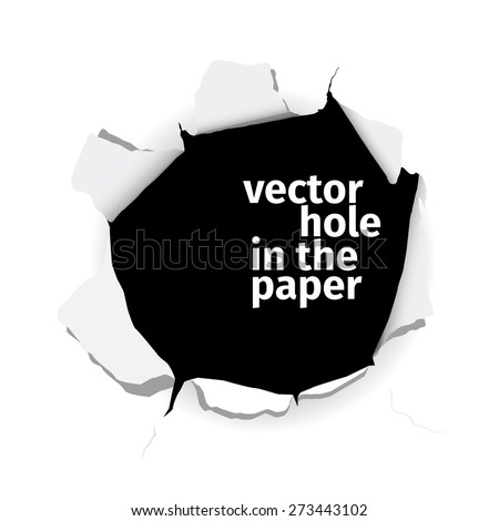 vector hole in the paper