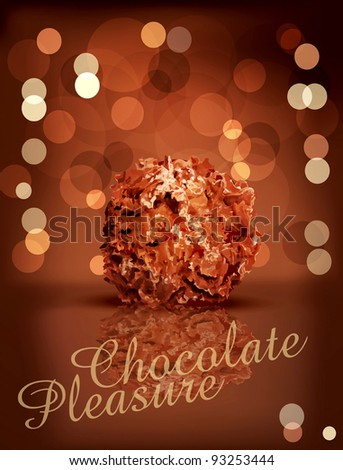 vector holiday background with chocolates