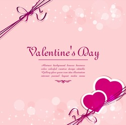vector holiday background with hearts for Valentine's Day