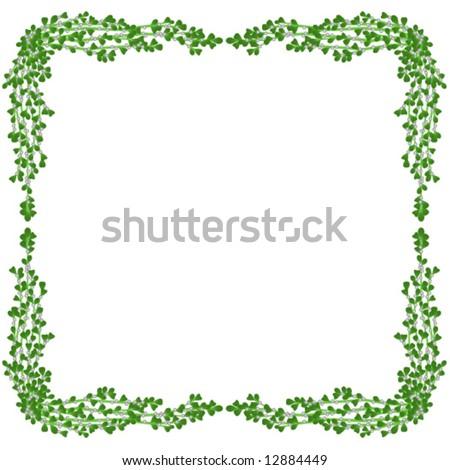 Vector Holiday Border Of Mistletoe - 12884449 : Shutterstock