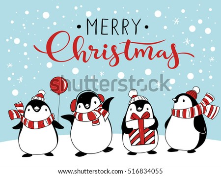 free penguin christmas vector download free vector art stock