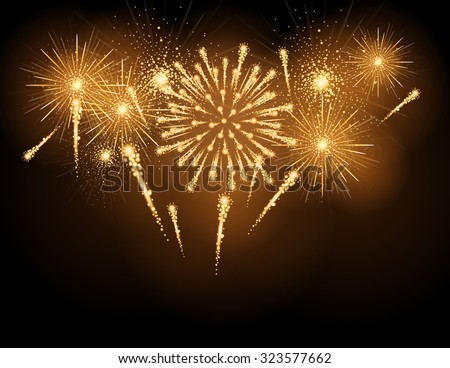 Vector holiday firework stock photo