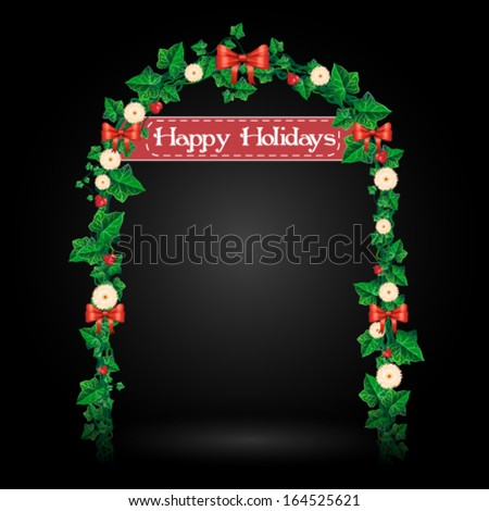 vector holiday ivy gate