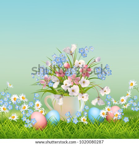 vector holiday poster spring