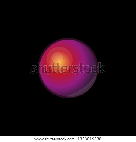 Vector holograpic glass multicolor 3d spheres set on black background. Glossy balls illustration for logo, advertising design, web interface buttons. Beads, pills or acid pearls for branding.