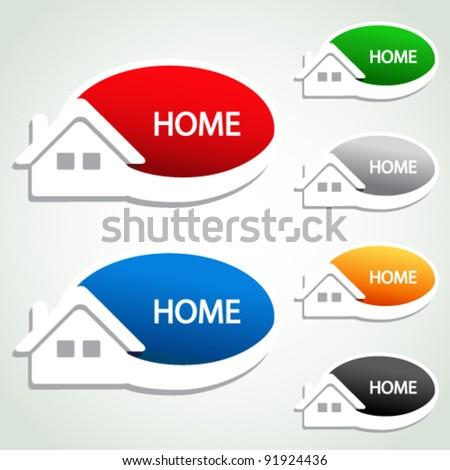 Vector home menu item - homepage symbol