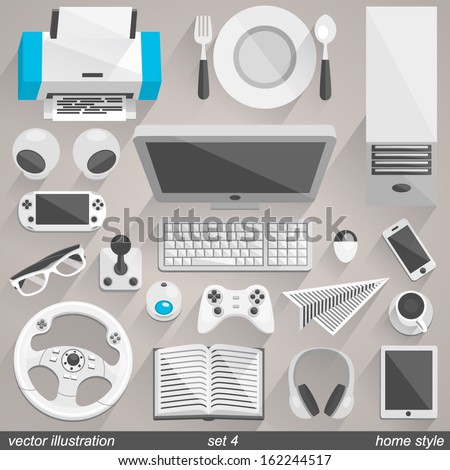 Vector home style set 4