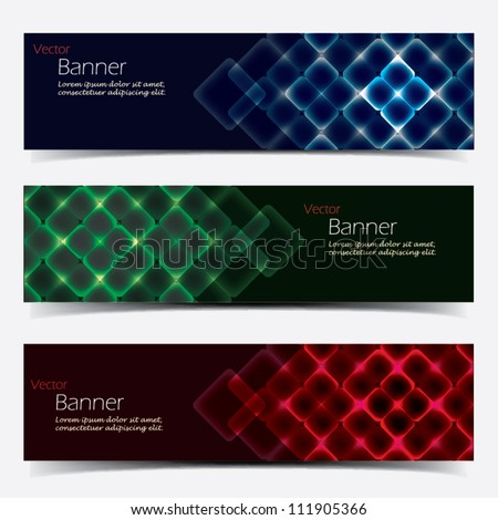 Vector Horizontal Banner Set