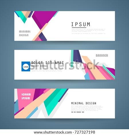 Vector horizontal banner template, abstract design