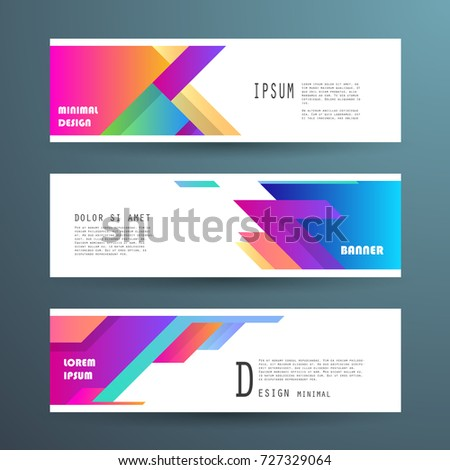 Vector horizontal banner template, abstract design #727329064