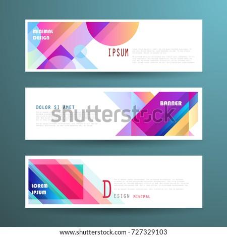 Vector horizontal banner template, abstract design #727329103