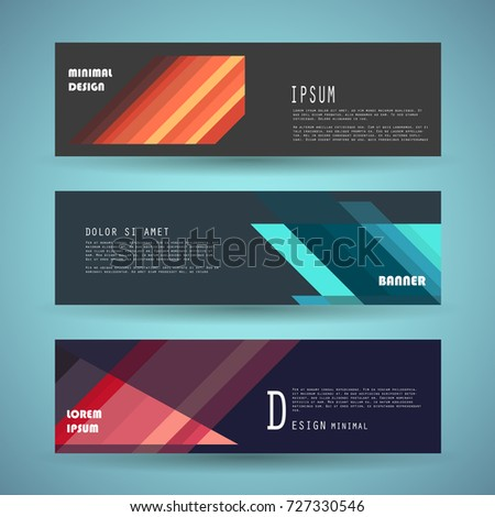 Vector horizontal banner template, abstract design #727330546