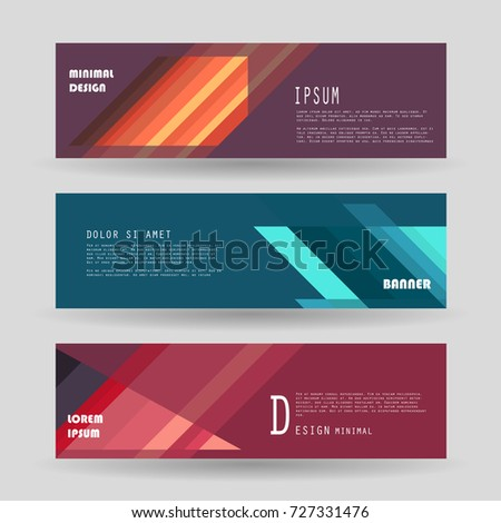 Vector horizontal banner template, abstract design #727331476