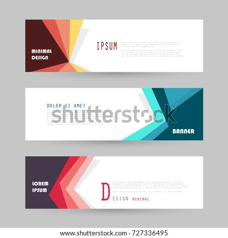 Vector horizontal banner template, abstract design #727336495