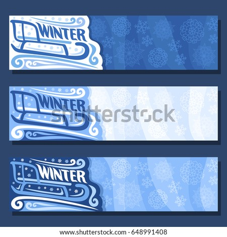 vector horizontal banners for