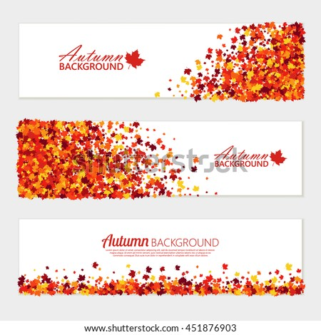 vector horizontal fall banners