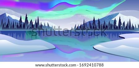 vector horizontal landscape