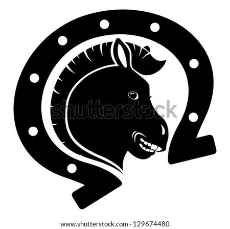 Vector. Horse icon.