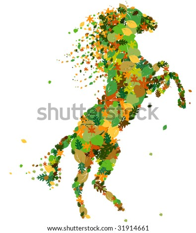 Vector horse silhouette.