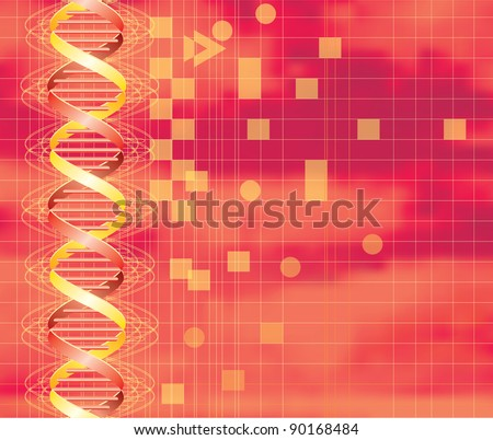 vector hot background with abstract DNA graph