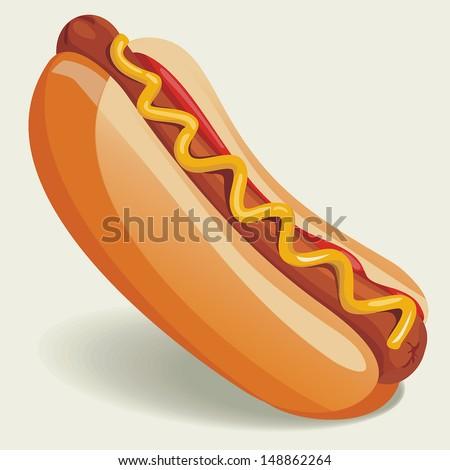 Vector Hot-Dog illustration
