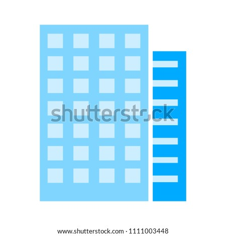 vector hotel Building - modern residential or office apartment building