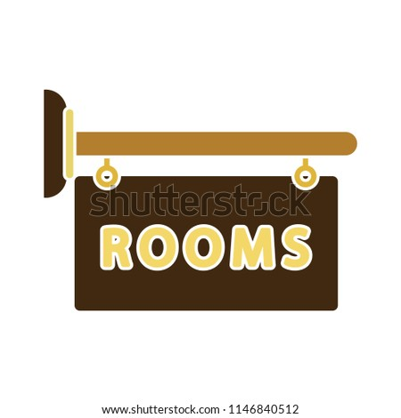 vector hotel room sign. room signboard - hotel icon