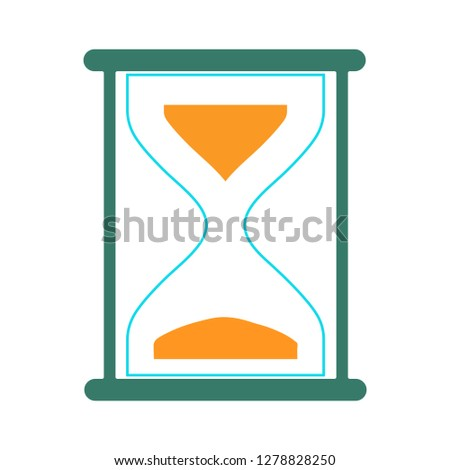 vector hourglass icon-stopwatch sign-countdown symbol-time illustration-sandglass Vector