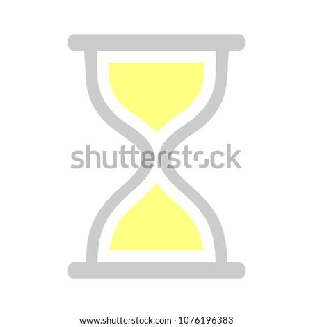 vector hourglass illustration - sand timer symbol - timer sign