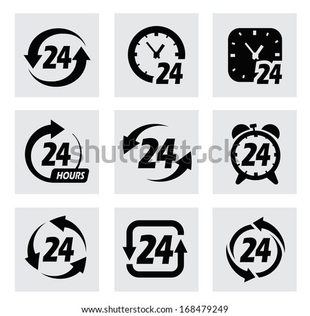 vector 24 hours symbols