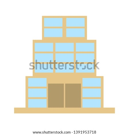 vector house buildings icon - residential home isolated. real estate illustrations, property object