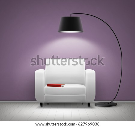 vector house interior with