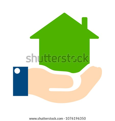 vector house loan - property real estate - rent symbol, mortgage agent