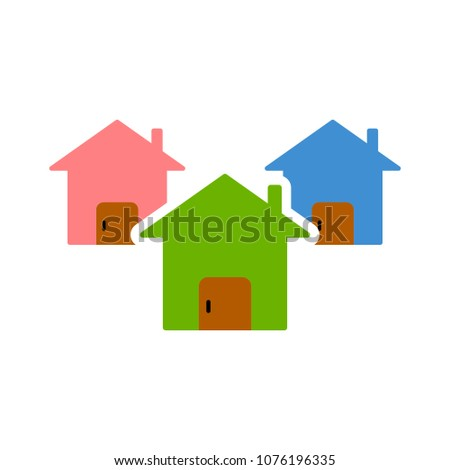 vector houses loan - property real estate - rent symbol, mortgage agent - home icon