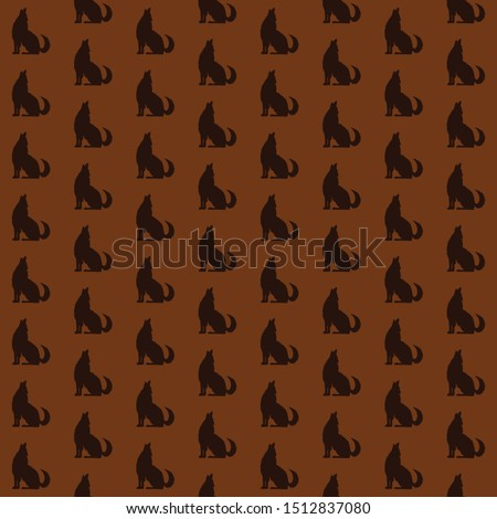 vector howling wolf pattern