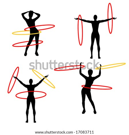 Vector Hula Hoops is original artwork.