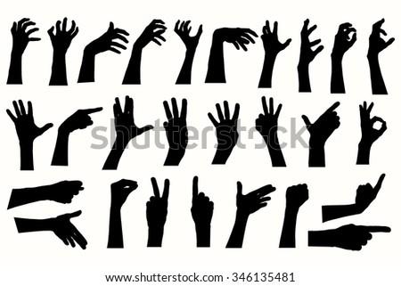 vector human hands  different